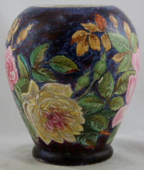 Old William Lycett Rare 85 7 Vase In John Bennett Style Date 1880