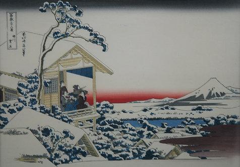 Katsushika Hokusai (1760-1849)  'Morning after Snow at Koishikawa' #24