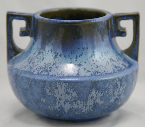 "$OLD! TY! Fulper 4.75"" Urn/Vase c1917-1934 #452 In Rich Blue Crystalline Glazes"