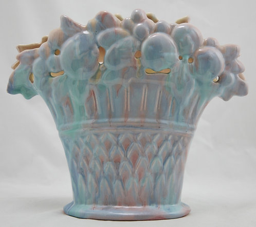 $OLD! Royal Haeger Early Mauve Agate Fruit Basket Pillow Vase