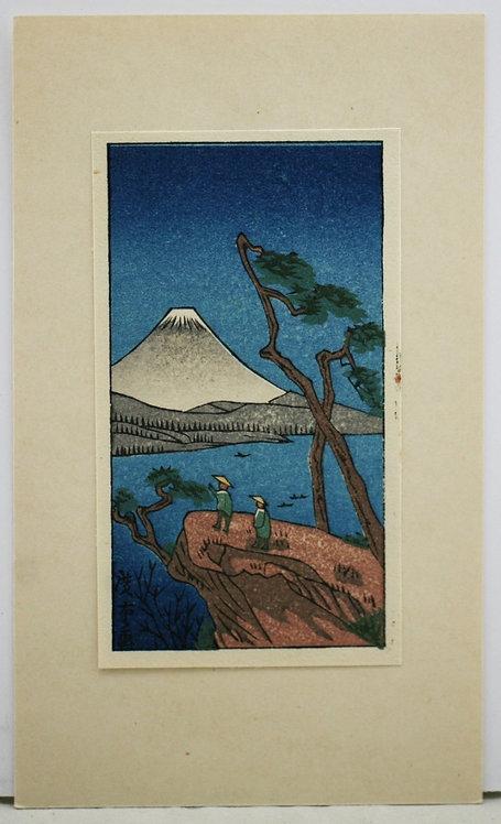 Utagawa Hiroshige (1797-1858) 'Fuji from Lake Biwa'