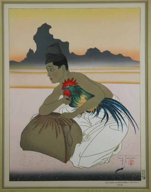Paul Jacoulet (1896-1960) 'Les Deux Adversaires Corée' or 'The Two Adversaries'