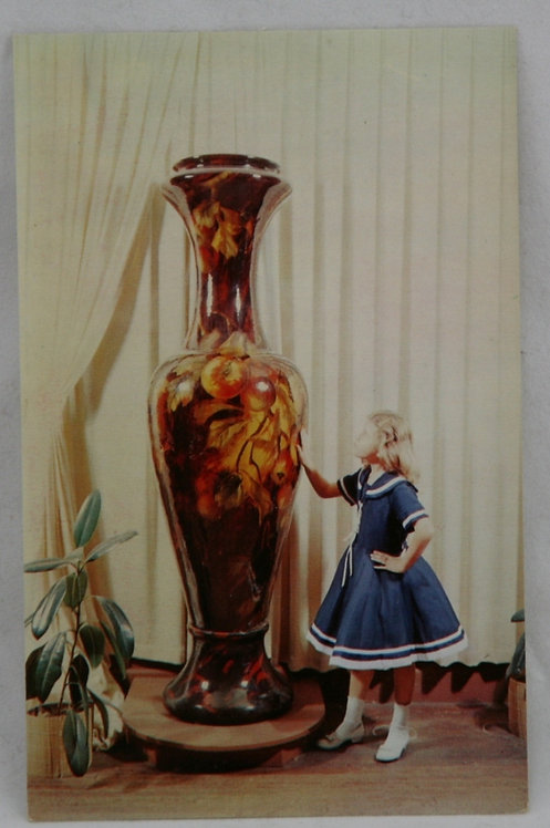 World's Largest Vase Postcard Weller Pottery Vase for the 1903 St. Louis
