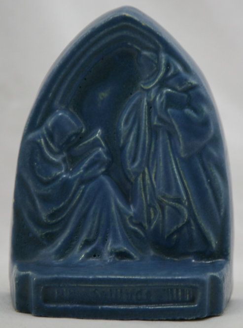 Continental Faience Company 'Monks' Single Bookend S. Milwaukee, Wisconsin c1925