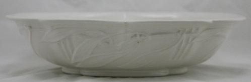 "Roseville Ivory II/Laurel 3"" x 12.5"" Center Console Bowl In Ivory Glazes"