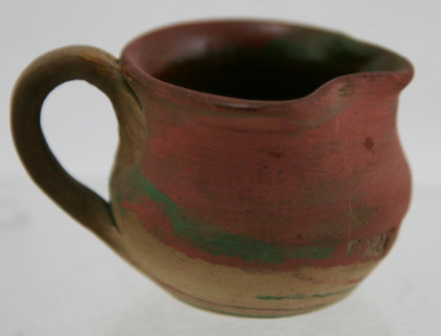 Fort Ticonderoga Miniature Swirl Pottery Pitcher by Henry A. Graack Jr. c1930s