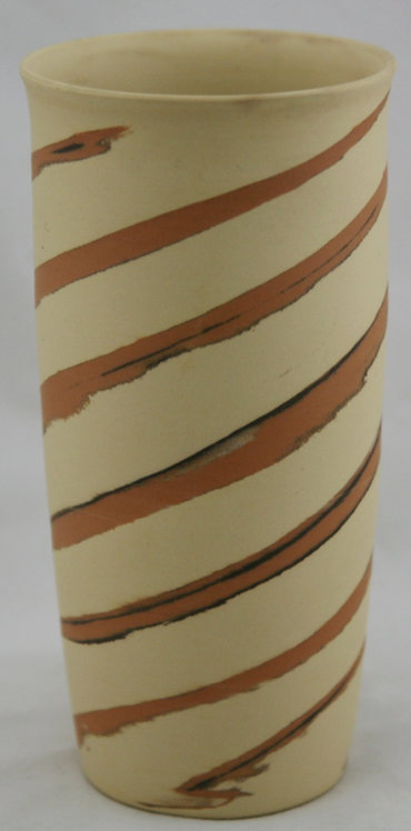 Occupied Japan Swirl-Decorated Pottery Vase c1945-1951