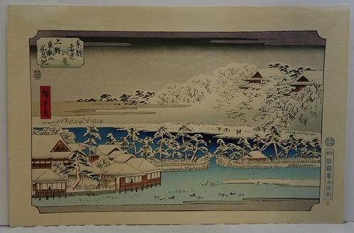 Utagawa (Ando) Hiroshige (1797-1858) 'Toeizan Temple and Shinobazu Pond, Ueno'
