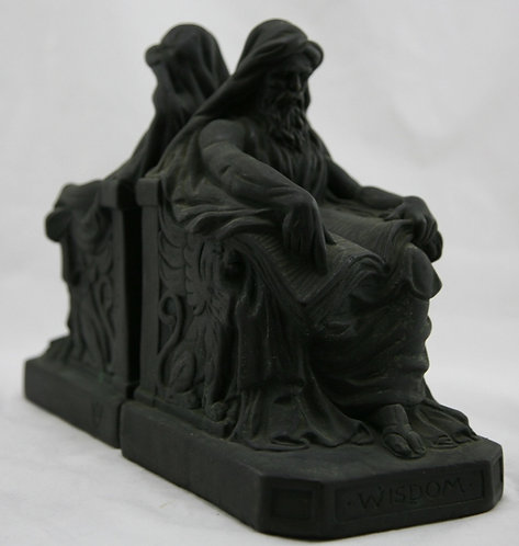 Armor Bronze NYC 'Wisdom' Bookends by Sculptor A. Johnson c1920