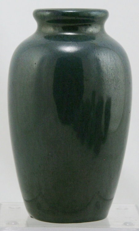"Fulper 6"" Vase In Deep Blue/Green Flambe Glazes Original Condition F155"