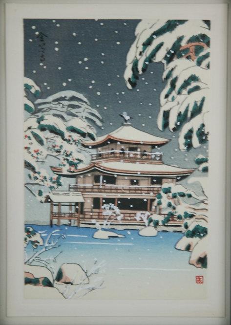 $OLD! TY! Unread Artist  'Golden Pavilion in Snow'