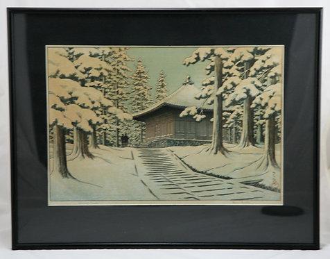Kawase Hasui (1883-1957) 'Chusonji Temple'