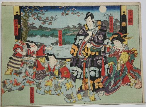 Utagawa Kunisada (1786-1865) 'Kabuki Theatre Scene'