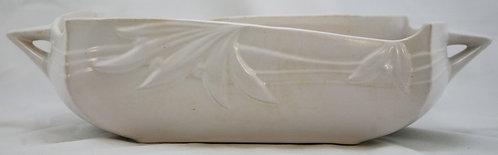 "Roseville Ivory II/Velmoss II 4"" x 16"" Center Console Bowl In Ivory Glaze"