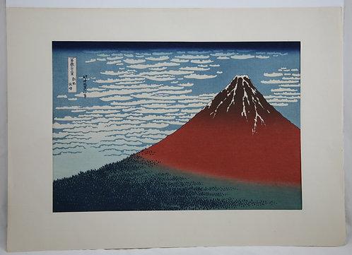 Katsushika Hokusai (1760-1849) 'Red Fuji: Fine Wind, Clear Weather'