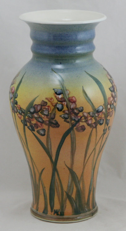 Linden Hills Pottery Vase A&C Floral Motif by Cynthia Mosedale and Bill Kaufman