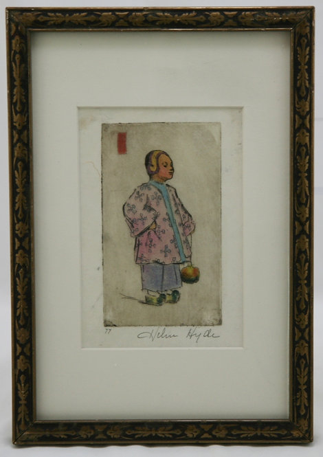 Helen Hyde (1868-1919) American, Lima, NY 'Miss Plum Blossom'