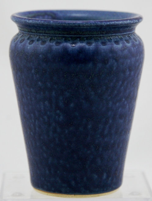 "PolyPots 5"" Contemporary Vase in Rich Blue Monochrome Glazes Mint C6"