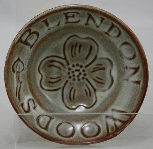 Nicodemus Souvenir Dish 'Blendon Woods' c1940 In Ivory Ferrostone Glazes