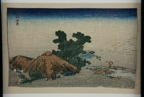 After Katsushika Hokusai (1760-1849) Shinano Province Miniature Crepe Print