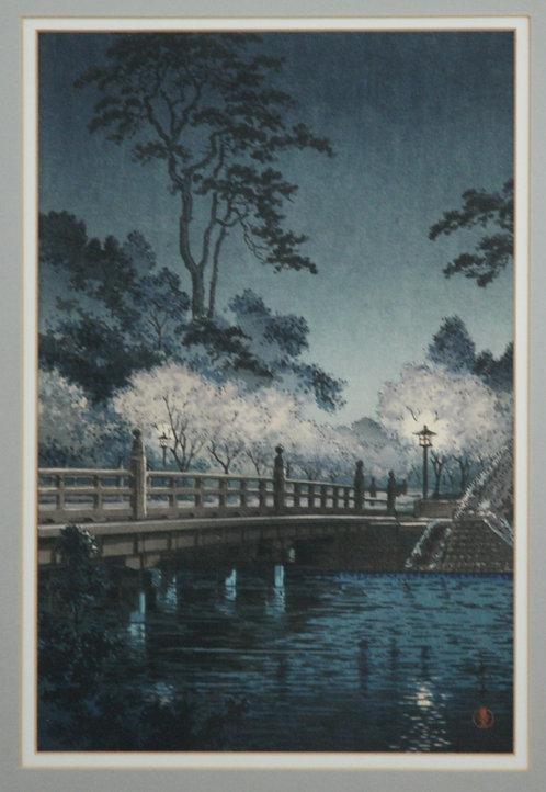 Tsuchiya Koitsu (1870-1949) 'Benkei Bridge at Night'