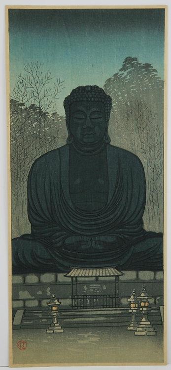 Uehara Konen (1878-1940) Statue of Buddha at Kamakura