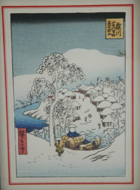$OLD! TY! Utagawa Ando Hiroshige (1797-1858) 'Snow at Yamanaka Village'