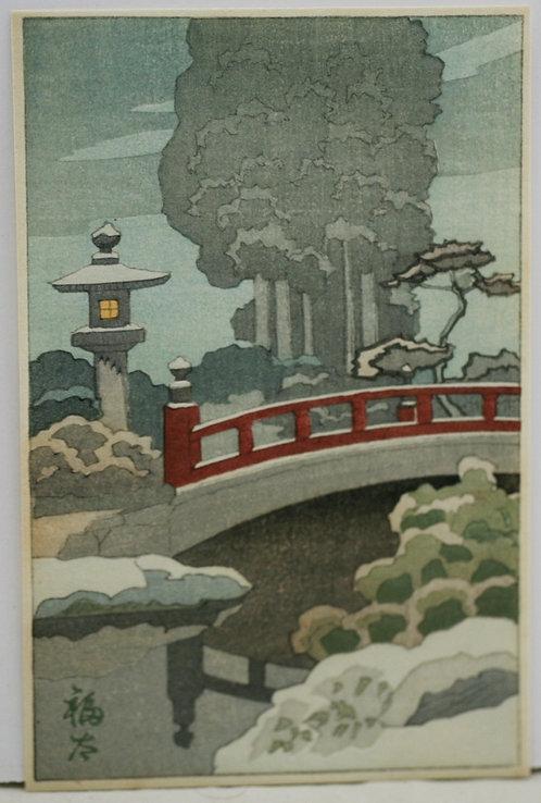 Fukuta 'Walking Bridge by Lantern Light'