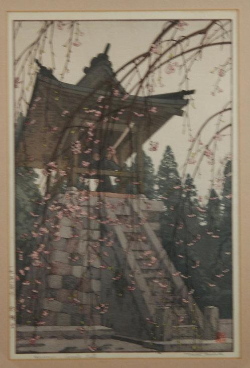 Toshi Yoshida (1911-1995) 'Heirinji Temple Bell'