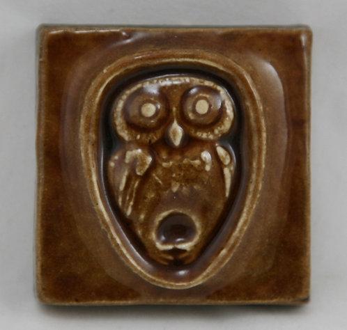 Thyssen Keramic Studio Danmark Mid-Century Modern Owl Hanging Tile