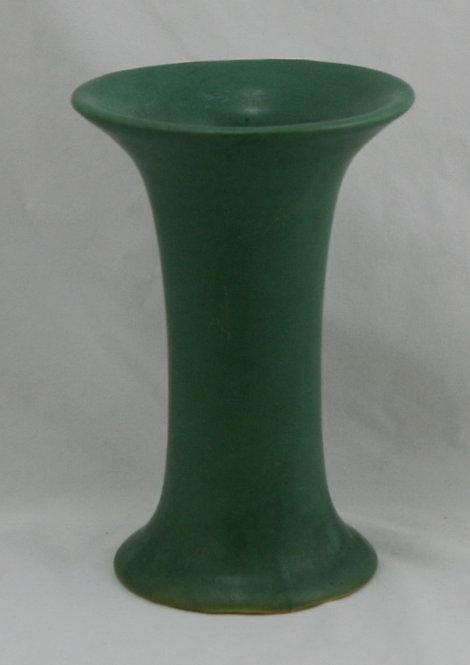 "Roseville Matte Green 7.5"" Trumpet Vase Arts & Crafts Form Original Condition"