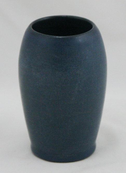 Marblehead Cabinet Vase In Lush Blue Matte Glazes