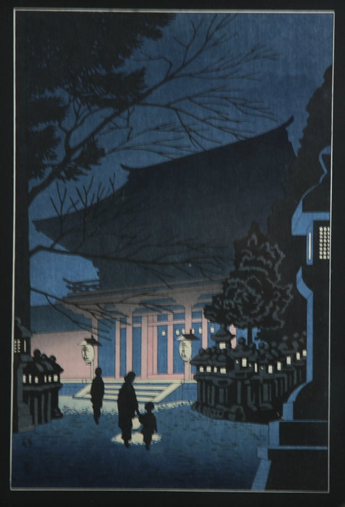 Takeji Asano (1900-1999) 'Night Scene of Kasuga Shrine'
