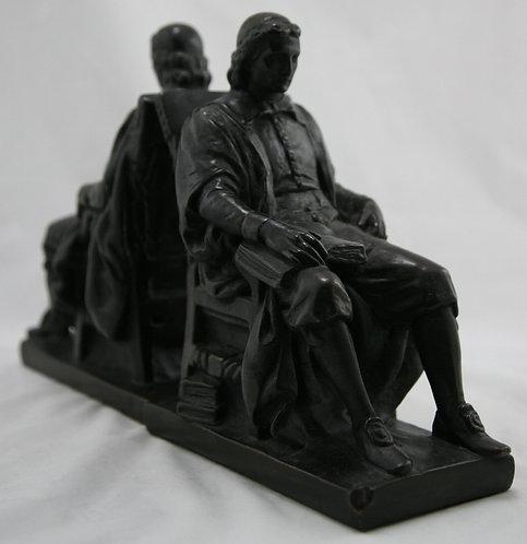 Marion Bronze 'John Harvard' Bookends c1935