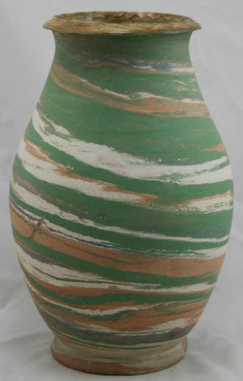 Silver Spring Swirl Pottery Vase by Henry A. Graack Jr. c1935-1945