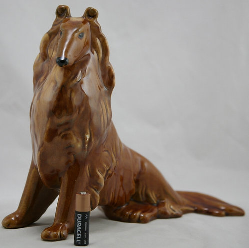 Royal Haeger Standing Collie In Amber Crystal Glazes Original Condition