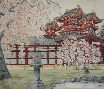 Unknown Artist  (After Kawase Hasui's 'Heian Shrine at Cherry Blossom Time')