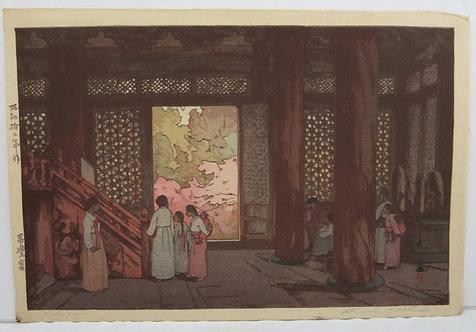 Hiroshi Yoshida (1876-1950)  'Shokei Palace', Series 'Korea and Manchuria'