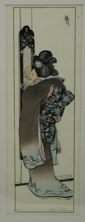 Helen Hyde (1868-1919) American, Lima, NY 'The Mirror'