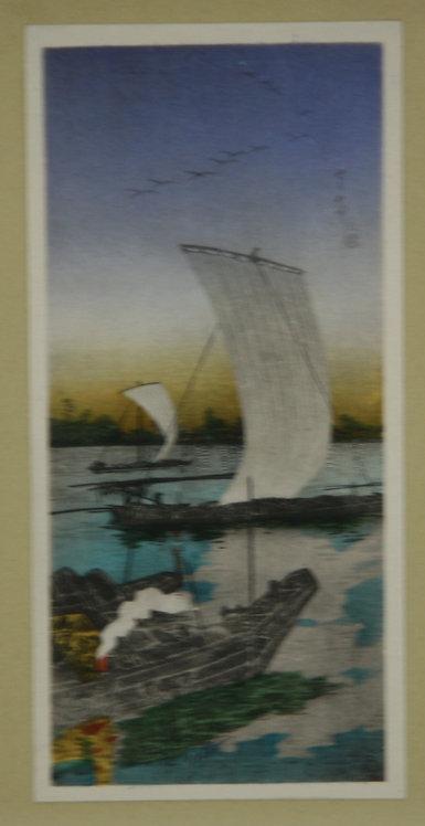Takahashi Shôtei (1871-1945)  'Sekiyado by Night'