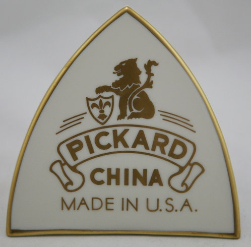 Pickard China Porcelain Authorized Dealer Sign in Gold Trim
