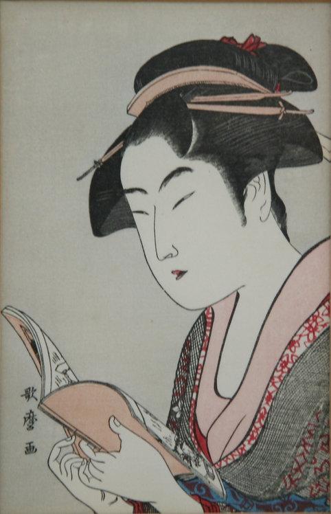 Kitagawa Utamaro (1750-1806)  'Ochie of the Ko-ise-ya of the Arayashiki'