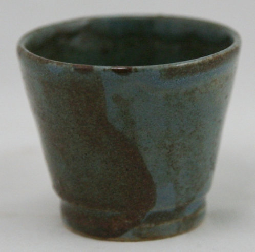 Saturday Evening Girls S.E.G./Paul Revere Miniature Egg Cup in Blue/Brown Glazes