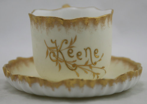 Imperial Geddo (Syracuse China) c1890s 'Keene' Cup and Saucer