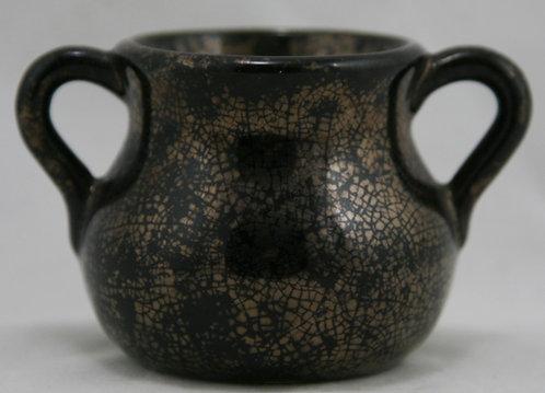 American Bronzeware Miniature Vessel in Bronze Crackle Glaze