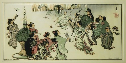 Helen Hyde (1868-1919) American, Lima, NY 'New Year's Day in Tokyo' d1914