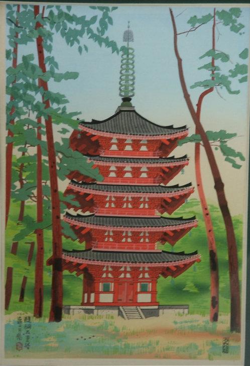 Tobei, Kamei (1901-1977)  'Five-Storied Pagoda at Daigo'