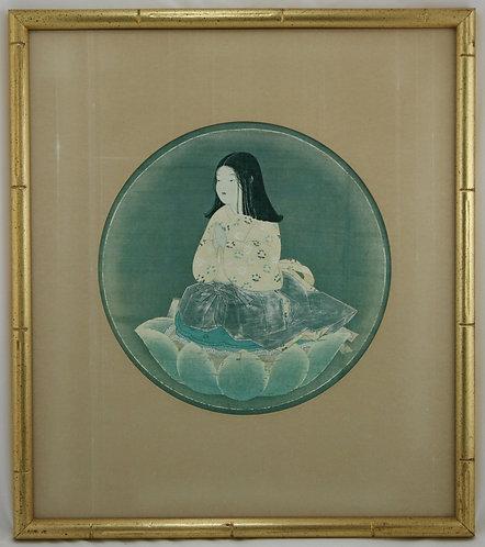 Unknown Artist Kobo Daishi (Kukai) as a Boy (Chigo Daishi) Seated in Meditation