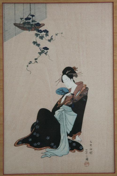 Chōbunsai Eishi (1756-1829) 'Morning Song', Year of Water-Rabbit (1795)