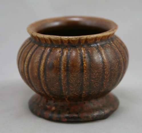 Stangl Colonial Miniature Urn/Vase in Orange Rust Glazes